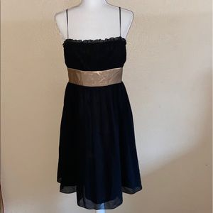 Black and Gold JonesWear Lace Dress